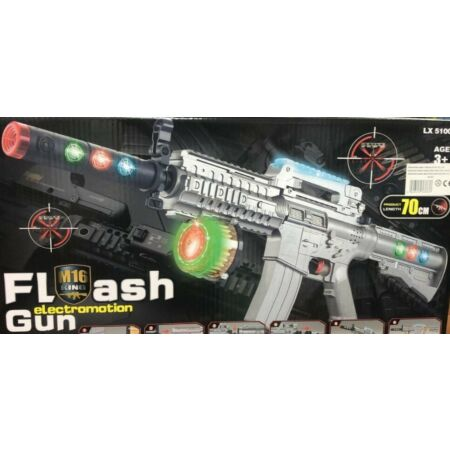 img-AK47 ARMY FORCE GUN LED LIGHTS FIRING SOUND ROTARY BULLETS 70CM GIRLS BOYS TOY