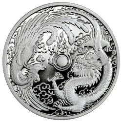 Kyпить 2018 Australia $1 Dragon & Phoenix 1 oz 9999 Silver Proof Coin - 2,500 Made на еВаy.соm