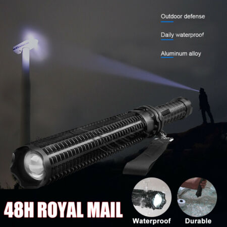 img-Telescopic LED Flashlight Q5 Super Bright Torch Waterproof Security Camping Lamp