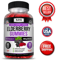Kyпить Elderberry Immune Support Gummies, Zinc, Vitamin C & E, Great Flavored Gummy  на еВаy.соm