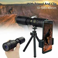 Kyпить 4K 10-300X40mm Super Telephoto Zoom Monocular Telescope Portable 2020 NEW на еВаy.соm