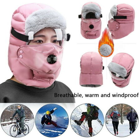 img-Trapper Russain Fur Windproof Hat Winter Thick Warm Outdoor With Valve Ski Cap
