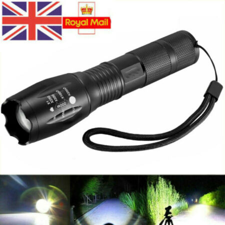 img-LED Cree Torch Super Light Flashlight Police Tactical Zoom Camping Lamp 90000LM