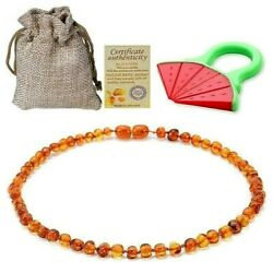 Kyпить Baltic Amber Necklace For Baby 12.5