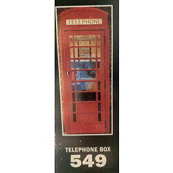 Large Red Telephone Box Vinyl Sticker Wall Decal Mural (86x210cm) 2 10x6 11
