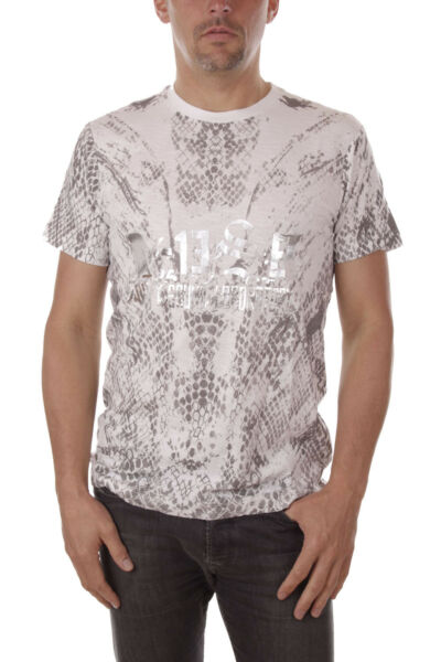 AllemagneDiesel T-Diego-Qi Homme T-Shirt Col Rond Manches  Blanc