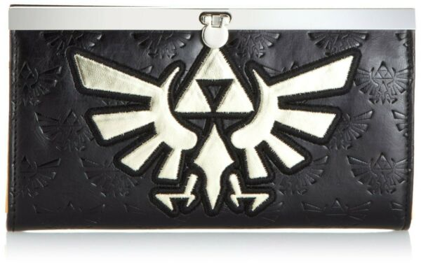 Italie Porte-Monnaie Legend Of Zelda Golden Logo Or Femme Nintendo