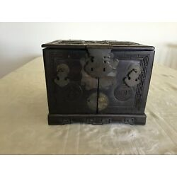 Kyпить Antique Asian Carved Wooden Jewelry Box with Mirror на еВаy.соm