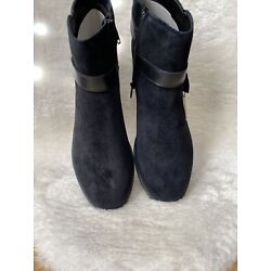 Love Your Sole New Look Wide Fit Ankle Boot - Suede - Women's Size 9 W