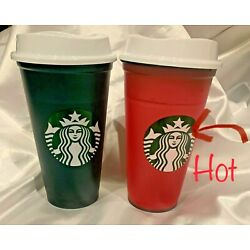 Kyпить Starbucks Holiday 2020 Color Changing Hot Cup Green to Red Hot - Lot of 2 на еВаy.соm