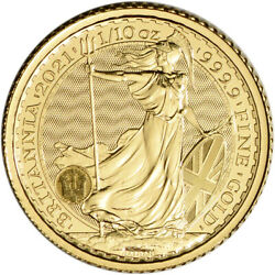 Kyпить 2021 Great Britain Gold Britannia £10 - 1/10 oz - BU на еВаy.соm