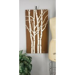 Kyпить Vintage MARUSHKA Birch Trees Forest Woods Screen Print Nature Canvas Art на еВаy.соm