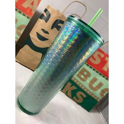 Kyпить Starbucks Exclusive 2020 Holiday Mint Green Bubble 24 oz Cold Cup Tumbler  на еВаy.соm