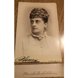 Kyпить Cabinet Card Actress Identified Mary Scott-Siddons Actress Taken By Sarony на еВаy.соm