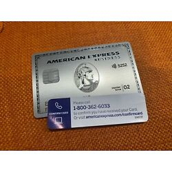 Kyпить AMERICAN EXPRESS PLATINUM BUSINESS TRAVEL CREDIT CARD AMEX CENTURION MASTERCARD на еВаy.соm