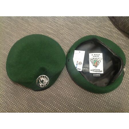 img-French Foreign Legion beret with Badge 2e R.E.P. Paratroopers, Army