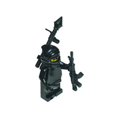 LEGO Minifigure Insurgent Loaded With Brickarms Weapons