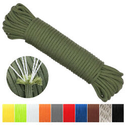 Kyпить 550LB Paracord Parachute Cord Rope Mil Spec Type III 7 Strand  50 100 500 1000FT на еВаy.соm