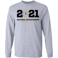 Kyпить Men's 2021 College Football Playoff National Championship logo Long Sleeve S-5XL на еВаy.соm