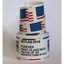 Kyпить US Flag Forever Coil of 100 Postage Stamps, Stamp Design May Vary (SEALED) NEW на еВаy.соm