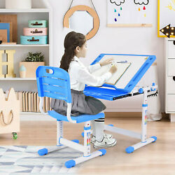 Kyпить Height Adjustable Children Desk and Chair Set Student Study Table Desk ∈∈∈ на еВаy.соm