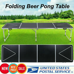 Kyпить 8 Foot Beer Pong Table Premium Outdoor Folding Table Adjustable Height Desk ∈∈∈ на еВаy.соm