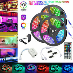 Kyпить 50FT 900LED Strip Lights 15M 3528 SMD RGB Fairy String with Remote Xmas Party TV на еВаy.соm