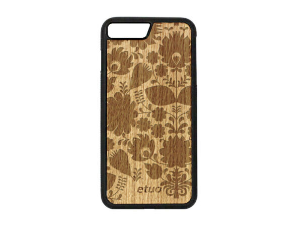 DeutschlandApple iPhone 8 Plus Hülle etuo Wood Cover Silikon TPU Eichenholz -
