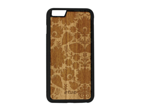 DeutschlandApple iPhone 6 Plus Hülle etuo Wood Case Cover Silikon Eichenholz -