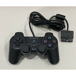 Kyпить PS2 Wired Controller -DualShock 2 -Model SCPH 10010 -PS2 -PlayStation 2 -Black. на еВаy.соm