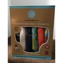 Kyпить Charlie Banana 6 Pack Diapers One Size +12 Inserts - Super Dude New на еВаy.соm