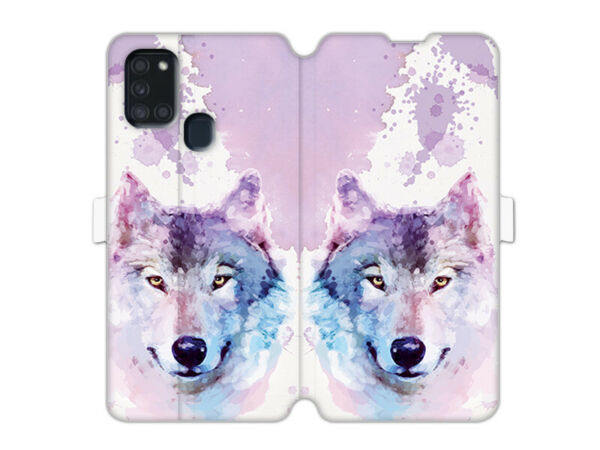 DeutschlandSamsung Galaxy A21s Hülle etuo Wallet Book  Case Cover TPU Traumwolf
