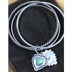 Kyпить Don Lucas Sterling Silver Trio Bangle With Two Stone Charms. на еВаy.соm