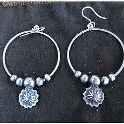 Kyпить Don Lucas Sterling Silver Hoop Earrings With Charm. на еВаy.соm
