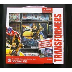 Transformers Over 1000 Stickers Kit Optimus Prime Bumblebee 14 Sticker Sheets