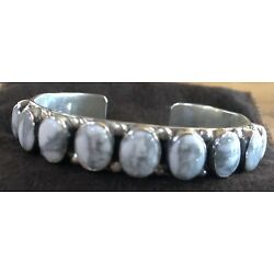 Kyпить Sterling Silver and White Buffalo Turquoise Cuff Bracelet. Never Worn, Stamped. на еВаy.соm