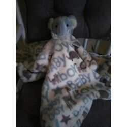 Kyпить Blankets And & Beyond Baby Boy Security Lovey Elephant Blanket 30