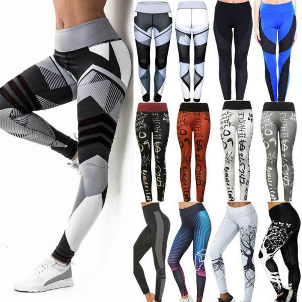 Bremen,DeutschlandDamen Leggings Push Up Sporthose Gym Fitness Jogging Yoga Stretch Leggins Neu