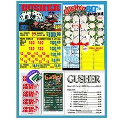 Kyпить Seal Card 624ct 5W $1.00 GUSHER Bingo pull tab Last Sale sign ($100)  на еВаy.соm