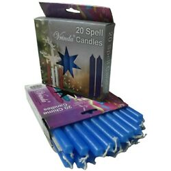 LIGHT BLUE  Chime Candles 20 Pack Bulk Ritual Candle Spell Magic FREE SHIPPING