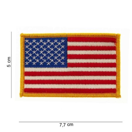 img-US Army Patch 50 Stars Sleeve Badges Flag Usmc Vietnam WK2 WW2 Nam Smal