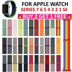 Kyпить Woven Nylon Sport Loop Band for Apple Watch Series 6/5/4/3/2/1/SE 38/42/40/44mm на еВаy.соm