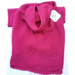 NEW BOND & CO HOODED DOG SWEATER, RED SIZE XXL