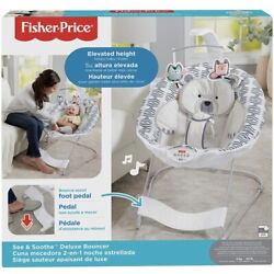 Kyпить Fisher-Price See & Soothe Deluxe Bouncer, Hands-Free на еВаy.соm