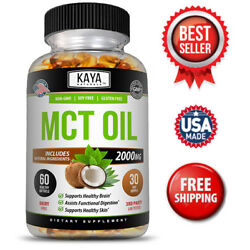 Pure MCT Oil 2000mg serving, C8 C10 Weight Loss, Energy, Inflammation Capsules
