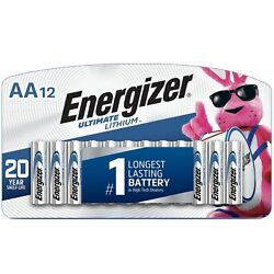 Kyпить 12 Energizer AA L91 Ultimate Lithium Batteries- Factory Packing/Brand New! на еВаy.соm