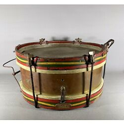 "Kyпить Antique English Briggade Boy's 16"" Marching Drum на еВаy.соm"