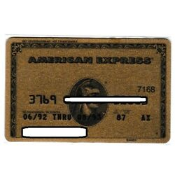 Kyпить  Top bank collector Adam=EXPIRED OLD 1992 HOLLAND GOLD AMEX CARD  на еВаy.соm