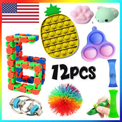 Kyпить Fidget Toys Pack Anti Stress Toy Set 12pcs Simple Dimple Marble Relief Gift US на еВаy.соm