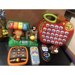 Kyпить VTech Lot: Alphabet Apple, Learn & Dance Zoo, Remotes, Tablet & Horse WORKS! на еВаy.соm